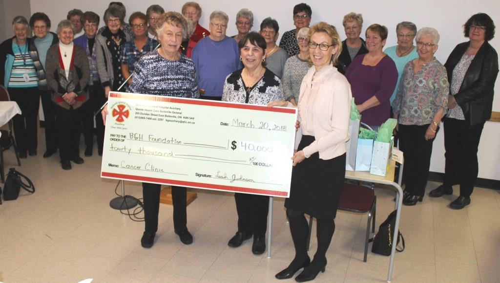 BGH Auxillary with a giant cheque