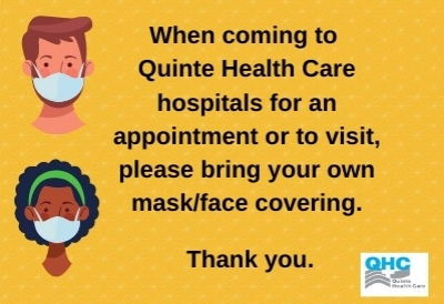 Please bring a mask to QHC hospitals