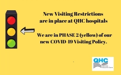 Changes to QHC's Visiting Restrictions - effective June 8, 2021